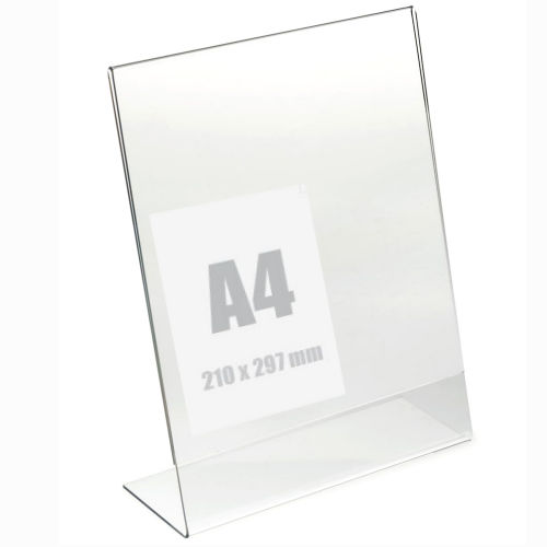 Slatwall Fittings A4 lean back Brochure Holder