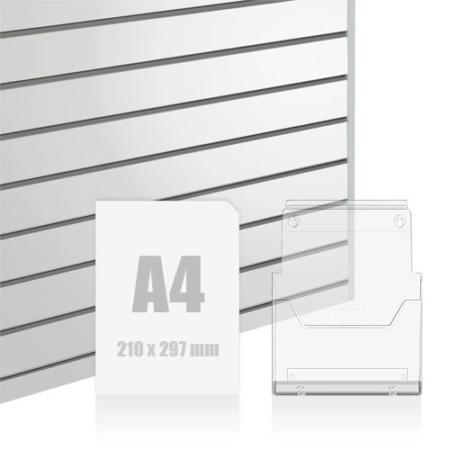 Slatwall Fittings A4 Brochure Holder