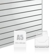 Slatwall Fittings A5 Brochure Holder
