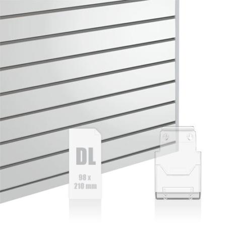Slatwall Fittings DL Brochure Holder (1/3 A4)